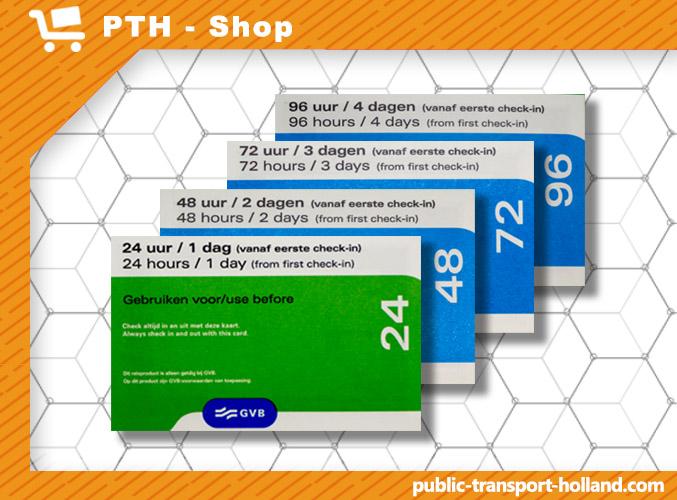 Public Transport Amsterdam Day Ticket- GVB