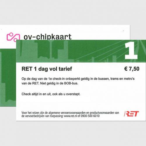 RET Rotterdam Day Ticket 1-day Both Sides