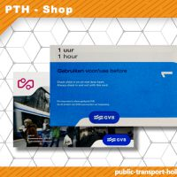 1-hour transport ticket Amsterdam