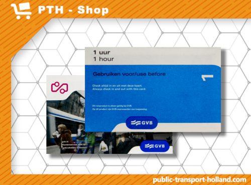1-hour transport ticket Amsterdam
