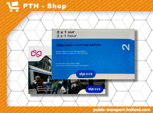 2x1-Hour transport ticket Amsterdam