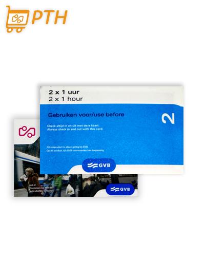 2x1-Hour transport ticket Amsterdam
